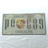 Plaque de bidon de numéro de véhicule/en aluminium gravée en relief par plaque d'immatriculation créatrice