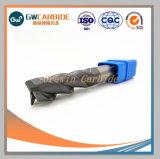 Le scanalature dell'utensile per il taglio 4 quadrano il laminatoio di estremità del carburo di tungsteno