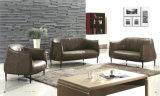 L'Europe vivant ensemble mobilier de salle de conception moderne de canapé en cuir