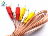Transparante Kabel 3RCA aan 3RCA Mannetje voor AV