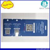 Scheda tagliata scheda del PVC di Qr-Codice di offerta per il commercio Promotoion
