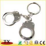 Kühle Andenken fesselt Form-Metallzink-Legierungs-Schlüsselkette und Schlüsselring mit Handschellen