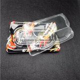 Het Dienende Dienblad van het voedsel voor de Beschikbare Plastic Container van de Partij met het Transparante Dienblad van de Sushi van de Grootte van de Dekking Grote Vierkante met Druk