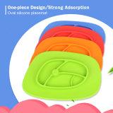 De gepersonaliseerde Ovale Baby Placemats van het Silicone