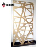 4mm Ideabond CNC Pantalla tallada Panel Compuesto de Aluminio