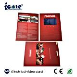 Брошюра LCD самого нового экрана 6 дюймов видео- для рекламировать