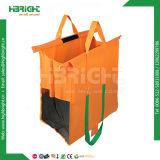4 يتيح قابل للاستعمال تكرارا نيلون تسوق حامل متحرّك عربة حقيبة