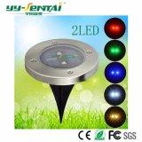 옥외 RGB 태양 지상 빛 LED에 의하여 매장되는 램프