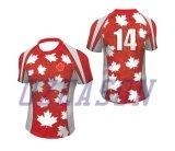 Conception personnalisée classique Racing Rugby Shirt pour hommes