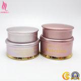 Розового цвета сливок контейнер с золотым Aluminun винты с головкой