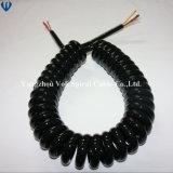 Haute flexibilité et ressort enroulé en spirale câble escamotable