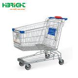 Metal supermercado asiático Carrito de compras con asiento de bebé