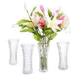 Vaso di fiore di vetro alto