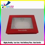 Grand carré boîte cadeau avec couvercle transparent