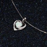 Juwelen van de Halsband van de Tegenhanger van het Hart van de liefde de Opalen voor Vrouwen 925 de Zilveren Echte Juwelen van de Manier
