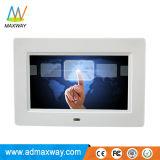 7 polegadas LCD tela multitoque capacitiva Álbum de Fotografias Digitais Estrutura (MW-077TWDPF)