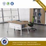 L Tableau en acier de bureau de couleur de chêne de modèle de patte de forme (UL-NM108)