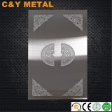 En acier inoxydable 304 Affichage de l'échantillon de porte de l'élévateur décoratif