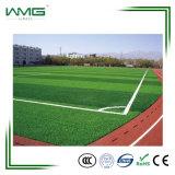 Herbe artificielle plate d'extrusion pour le football et le football