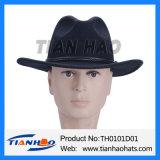 Deutschland-Wolle-Filzfedora-Cowboy-Mann-Hut mit Leder