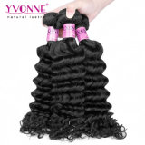 卸し売りバージンの黒人女性のためのカンボジアの深い波状毛の織り方