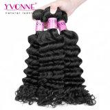 Großhandelsjungfrau-kambodschanische tiefe wellenförmiges Haar-Webart für schwarze Frauen