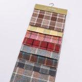 Färbte Polyester-Plaid-Garn 100% das Leinenblick-Gewebe, das für Sofa verwendet wurde