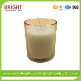 L'impression d'or à chaud logo Bougie en verre clair avec 5% de la cire de soja naturel parfumé