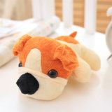 Het liggen Speelgoed van de Hond van de Pluche van Doll van de Uitvoer van het Puppy het Zachte Gevulde