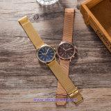 Relojes de encargo de la manera del reloj del cuarzo suizo de la insignia para los pares (WY-17016E)