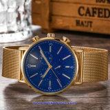 Logotipo personalizado reloj de cuarzo suizo de relojes de pulsera de moda para parejas (WY-17016E)