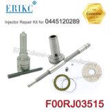 Erikc F00rj03515 Kit de Retífica F 00r J03 515 kits de reparo do injetor com bico Bosch Diesel Dlla142P2262 para Injector Cummins 0445120289
