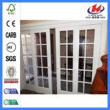 Armoire de moulée de la décoration en bois massif porte en verre (JHK-G30)