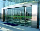 Deur van het Glas van het Frame van het roestvrij staal de Automatische Glijdende