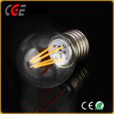 寝室熱い販売LEDの球根で使用されるエジソン4W G45 E27 LEDのフィラメントの球根ライト