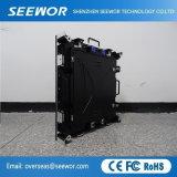 Armário de Instalação fácil P3mm LED de aluguer no interior da parede de vídeo para 192*192 mm Module