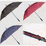 大きい防風の自動ガラス繊維の二重層かおおいまたはシャフトの大きい昇進のゴルフ傘