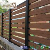 Nuevo diseño de cercado de madera de plástico compuesto decorativo jardín frontera valla