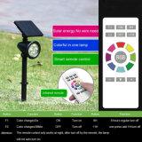 옥외 정원 벽 잔디밭 통로를 위한 4개의 LED 원격 제어 태양 빛을 바꾸는 태양 스포트라이트 색깔