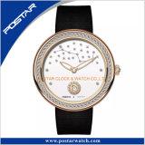 Orologio operato fragile del quarzo della signora Ronda della novità della manopola del diamante della stella