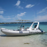 Liya 20pés barco inflável rígida com Console para venda