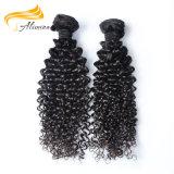 Alimina全100つのRemyのバージンのインドの人間の毛髪の拡張