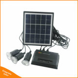 Uso doméstico Sistema de iluminación de la energía solar con 3 lámparas LED