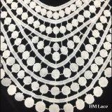 merletto raccolto nuziale elegante Hmvc210 della guarnizione del tessuto del poliestere del servo del reticolo della frangia connesso Punto-Collare spesso del testo fisso del merletto del collare del tessuto del ricamo di 31*34cm