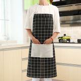 포켓을%s 가진 부엌 수도꼭지 앞치마를 요리하는 인쇄한 면을 주문 설계하십시오