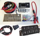 Profesionales de interruptor el interruptor de 8 a ras 8100 Sistema de alimentación del panel Bluetooth para Jeep Rzr UTV