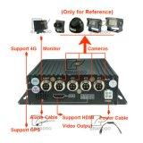 3G 4G GPS 1080P車DVRとの4CH H. 264移動式DVR