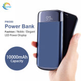 Portable 10000mAh Banco de potencia Universal con pantalla de nivel de batería