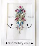 Peridot и кристаллический стикер тела стикера комода стикера ювелирных изделий Ab кристаллический (S073)