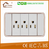 PC blanco 3Interruptor de pared doble polo toma